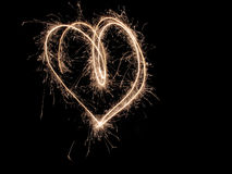 Corazón de luces Fotos de archivo