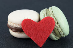 Corazón de Macaron Imagen de archivo libre de regalías