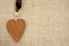 Corazón de madera Fotografía de archivo