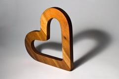 Corazón de madera Foto de archivo libre de regalías