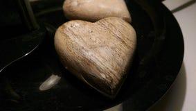 Corazón de madera Fotos de archivo