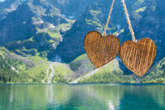 Corazón de madera dos Fotografía de archivo