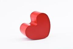 Corazón de madera rojo Imagen de archivo libre de regalías