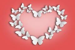 Corazón de mariposas ilustración del vector