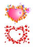 Corazón de mariposas Imagen de archivo