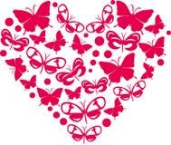 Corazón de mariposas Fotografía de archivo libre de regalías