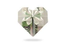 Corazón de mil billetes de banco de la rublo Foto de archivo libre de regalías