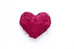 Corazón de mimbre Imagen de archivo