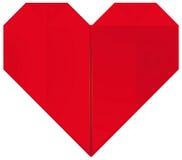 Corazón de Origami Imagen de archivo libre de regalías