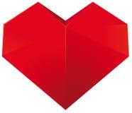 Corazón de Origami Fotografía de archivo