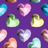 Corazón de Origami Modelo inconsútil del vector Foto de archivo libre de regalías