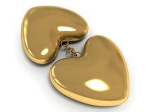 Corazón de oro Fotos de archivo libres de regalías