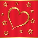 Corazón de oro Imagenes de archivo