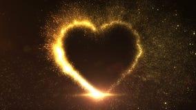 Corazón de oro explosivo stock de ilustración