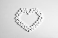 Corazón de píldoras Imagen de archivo