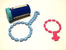 Corazón de píldoras Fotos de archivo libres de regalías