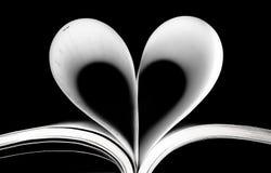 Corazón de paginaciones imagen de archivo libre de regalías