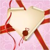 Corazón de papel Stock de ilustración