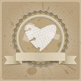 Corazón de papel Foto de archivo libre de regalías
