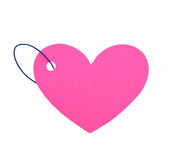Corazón de papel con el aislante de la cuerda (trayectoria de recortes) Imagen de archivo