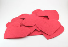Corazón de papel con la sensación Fotos de archivo libres de regalías