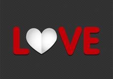Corazón de papel del amor stock de ilustración