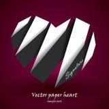 Corazón de papel del vector Foto de archivo libre de regalías