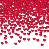 Corazón de papel, elemento del diseño al día de tarjeta de los amantes Foto de archivo