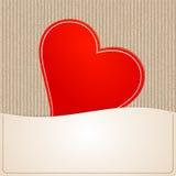 Corazón de papel para el fondo Imagen de archivo libre de regalías