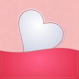 Corazón de papel para el fondo Fotografía de archivo