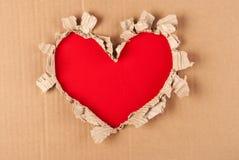 Corazón de papel rasgado Foto de archivo libre de regalías