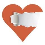 Corazón de papel rasgado Imagen de archivo libre de regalías