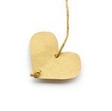 Corazón de papel reciclado. Fotografía de archivo