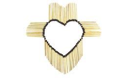 Corazón de partidos Fotografía de archivo