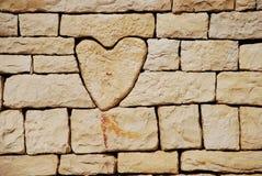 Corazón de piedra Foto de archivo