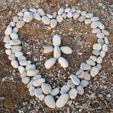 Corazón de piedras Imagen de archivo