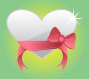 Corazón de plata Fotos de archivo libres de regalías