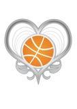 Corazón de plata del vector con Imagenes de archivo