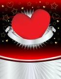 Corazón de plata Grunge Fotografía de archivo libre de regalías