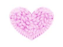 Corazón de plumas Imágenes de archivo libres de regalías