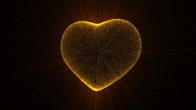 Corazón de pulsación del oro libre illustration