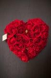 Corazón de rosas Foto de archivo