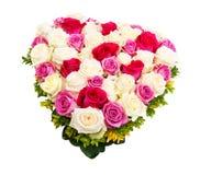 Corazón de rosas Fotos de archivo