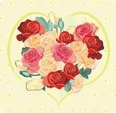 Corazón de rosas Foto de archivo libre de regalías