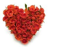 Corazón de rosas Imagen de archivo libre de regalías