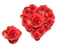 Corazón de rosas rojas Fotos de archivo libres de regalías