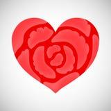 Corazón de rosas rosadas ilustración del vector
