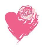 Corazón de Rose Fotografía de archivo