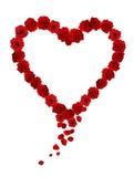 Corazón de Rose Fotos de archivo libres de regalías