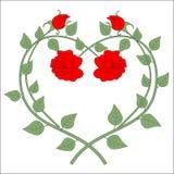 Corazón de Rose Imagen de archivo libre de regalías